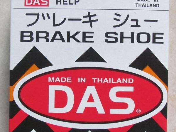 Má phanh DAS vằn,má phanh xe máy,má phanh Thái Lan chính hiệu,Má phanh Das